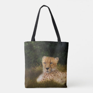 Reclining Cheetah at Fossil Rim Wildlife Center Tote Bag