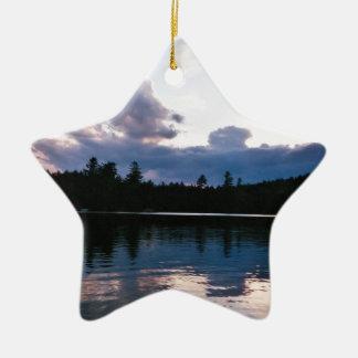 Reclining Clouds Ceramic Ornament