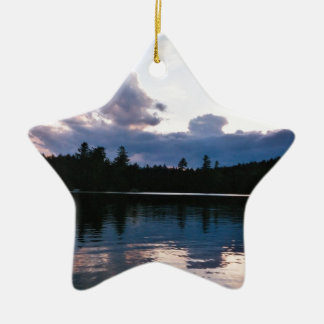 Reclining Clouds Double-Sided Star Ceramic Christmas Ornament