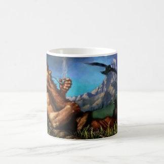 Reclining Dwarf Warrior. Retro Gaming Coffee Mug. Coffee Mug