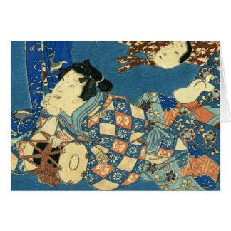 Reclining Geisha Card