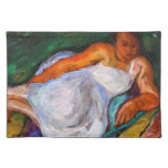 """Reclining Girl 20"""" x 14"""" Cloth Placemat"""