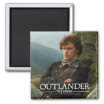 Reclining Jamie Fraser photograph 2 Inch Square Magnet
