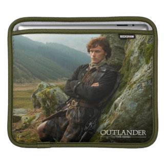 Reclining Jamie Fraser photograph Sleeves For iPads