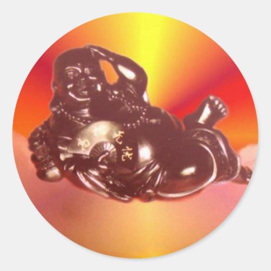 Reclining Laughing Buddha Sticker