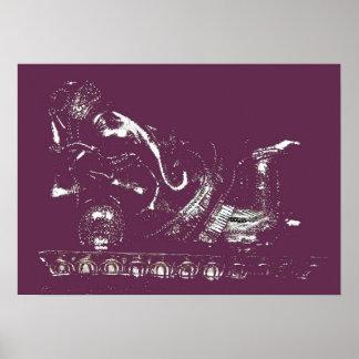 Reclining Lord Ganesha Poster Print