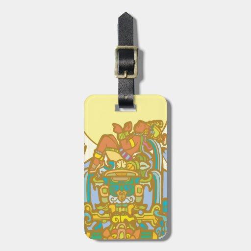 Reclining Mayan Lorf Luggage Tags