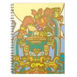 Reclining Mayan Lorf Spiral Notebooks