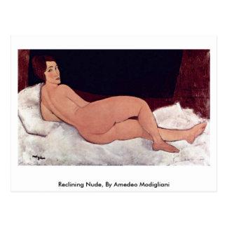 Reclining Nude, By Amedeo Modigliani Postcard