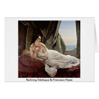 Reclining Odalisque By Francesco Hayez Greeting Cards