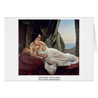 Reclining Odalisque By Hayez Francesco Greeting Cards