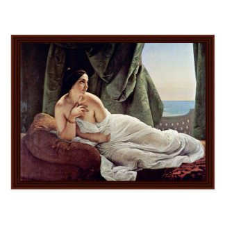 Reclining Odalisque By Hayez Francesco Post Cards