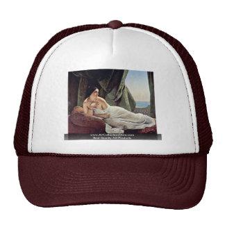 Reclining Odalisque By Hayez Francesco Trucker Hat