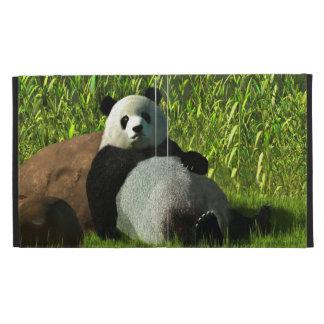 Reclining Panda iPad Folio Cover