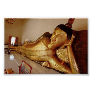 Reclining Rayong Buddha Poster