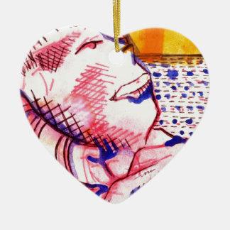 Reclining Sam Ceramic Ornament
