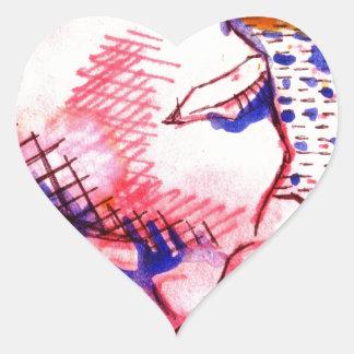 Reclining Sam Heart Sticker