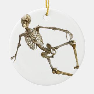 Reclining Skeleton Ceramic Ornament