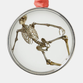 Reclining Skeleton Metal Ornament