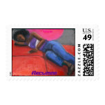 Reclining Stamps