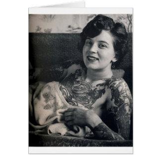 Reclining Tattooed Lady Card