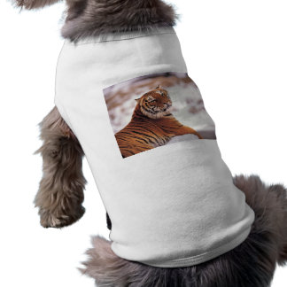 Reclining Tiger Doggie T-shirt