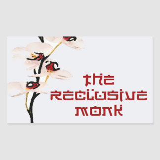 Reclusive Monk Rectangle Red Orchid Rectangular Sticker