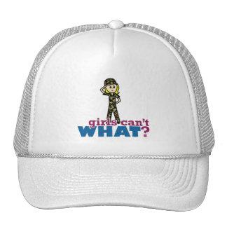 Recluta del chica del ejército gorras de camionero