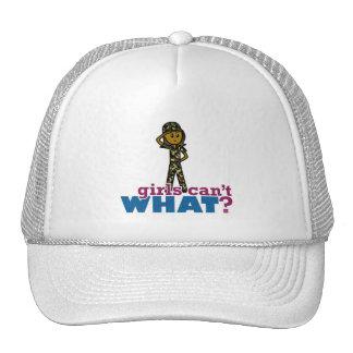 Recluta del ejército del chica gorras
