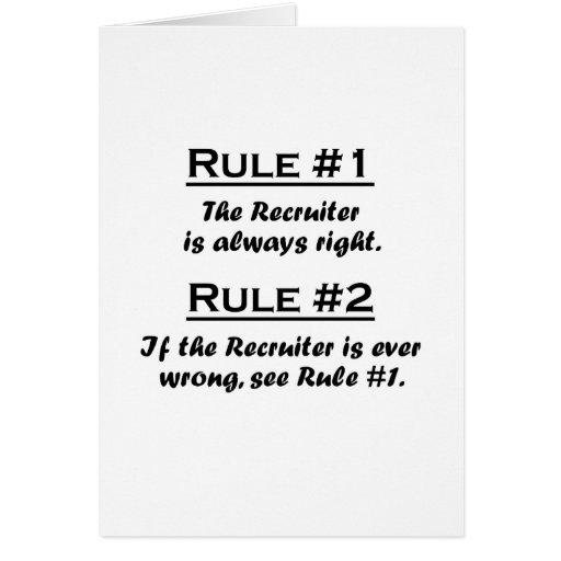 Reclutador de la regla tarjeta