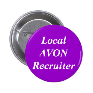 Reclutador local de AVON redondo Pins
