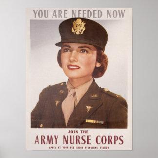 Reclutamiento de Army Nurse Corp Posters