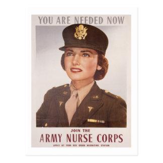 Reclutamiento de Army Nurse Corp Tarjeta Postal