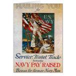 Reclutamiento de la marina de guerra de WWII Tarjeta