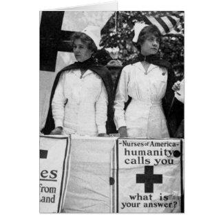 Reclutamiento de las enfermeras tarjeta de felicitación
