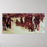 Reclutas de perforación del americano de barón von posters
