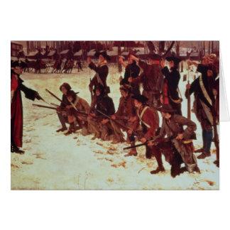 Reclutas de perforación del americano de barón von tarjeta de felicitación