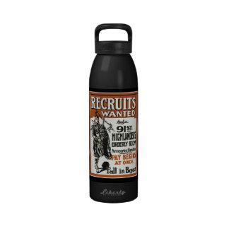 Reclutas del escocés queridos botellas de beber