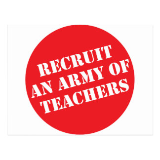 Reclute a un ejército de profesores postal