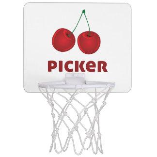 Recogedor de la cereza canasta de baloncesto mini