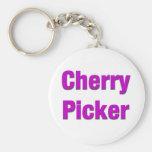 Recogedor de la cereza llaveros personalizados