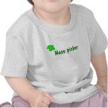 Recogedor de la nariz camisetas