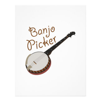 Recogedor del banjo membrete personalizado