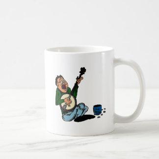 Recogedor pobre del banjo taza básica blanca