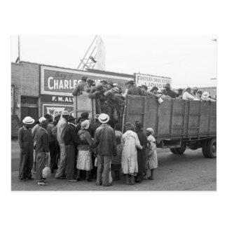 Recogedores de algodón, 1938 postal