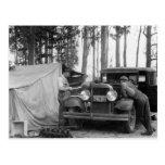 Recogedores del guisante de Vermont: 1935 Postales