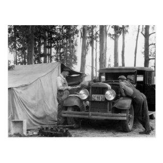 Recogedores del guisante de Vermont: 1935 Postal