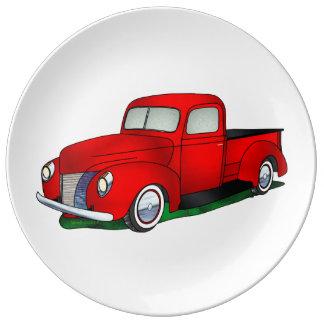 Recogida 1940 de Ford Plato De Cerámica