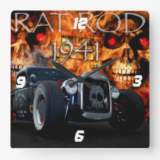 Recogida 1941 de Rod de la rata con los cráneos en Reloj De Pared