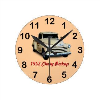 Recogida 1952 de Chevy Reloj Redondo Mediano